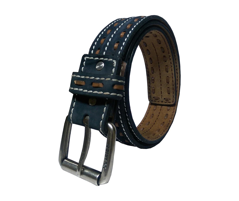 64e1fc40ff0d0 XXARIES Men s Genuine Designer Leather Belt-Weaved(XA63BL)  Amazon.in   Clothing   Accessories