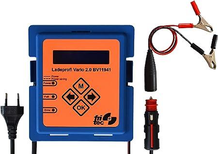 Fritec Ladeprofi Vario 2 0 Batterieladegerät Hergestellt Und Entwickelt In Deutschland Für Alle 12 V Fahrzeugbatterietypen Auto