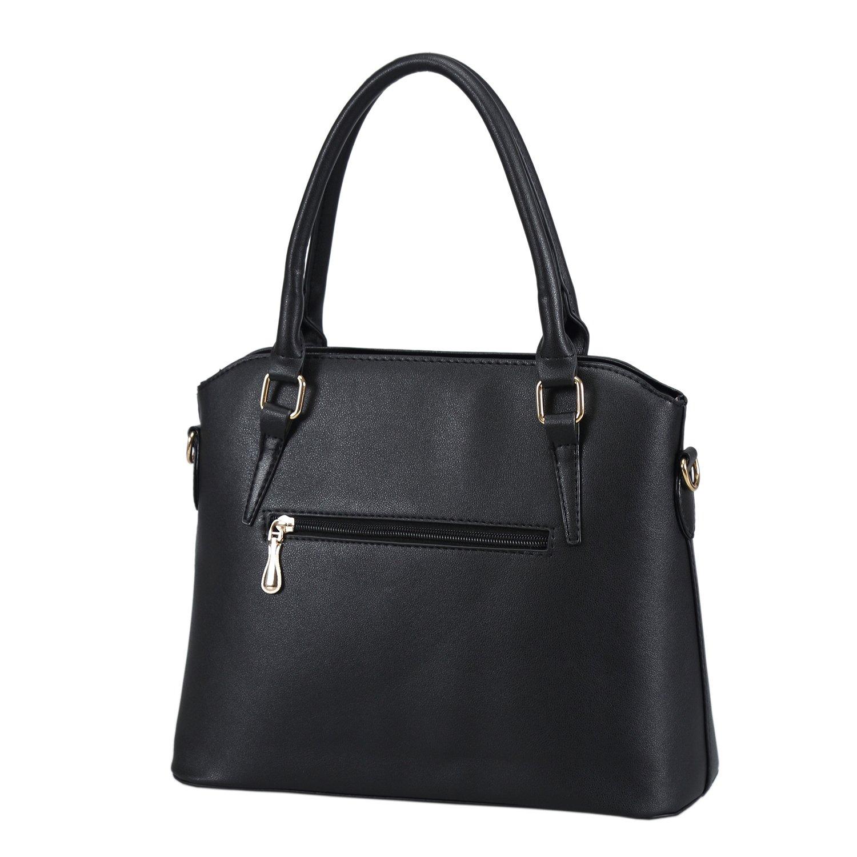 LINGTOM 3 pieces Lady Womens PU Leather Shoulder Bags Top Handle ...