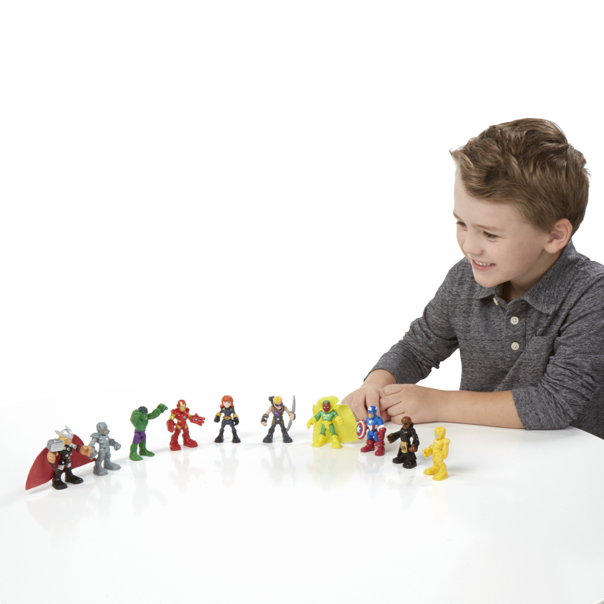 Playskool Heroes Marvel Super Hero Adventures Ultimate Super Hero Set, 10 Figures, Ages 3-7 (Amazon Exclusive)