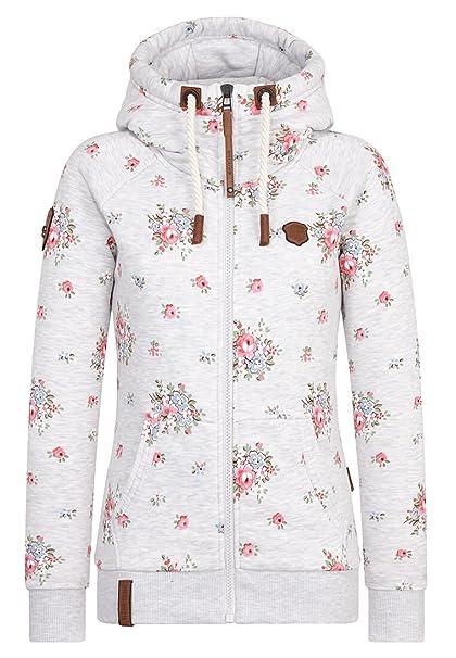Naketano Female Zipped Jacket Der Schein trügt Amazing Grey