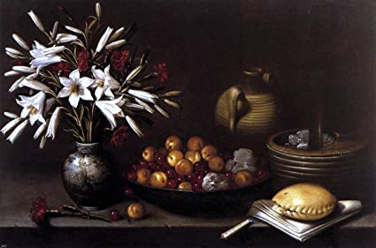 Francisco Barrera Still Life With Flowers And Fruit