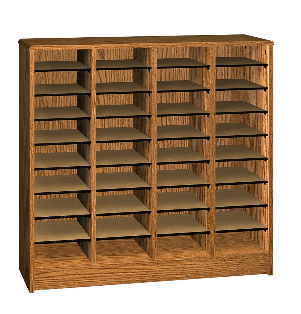 Ironwood Literature Organizer with 36 Compartment, Dixie Oak (LO36DO)