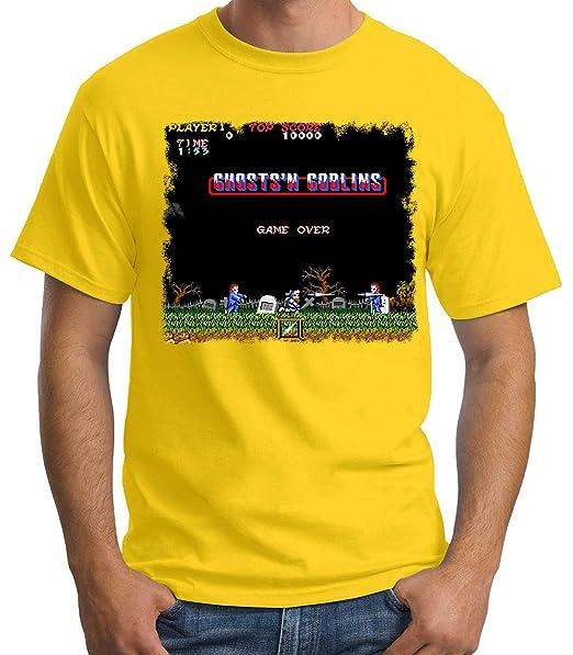 35mm - Camiseta Hombre Ghosts n Goblins Arcade  Amazon.es  Ropa y accesorios 8fe1fdba6a2