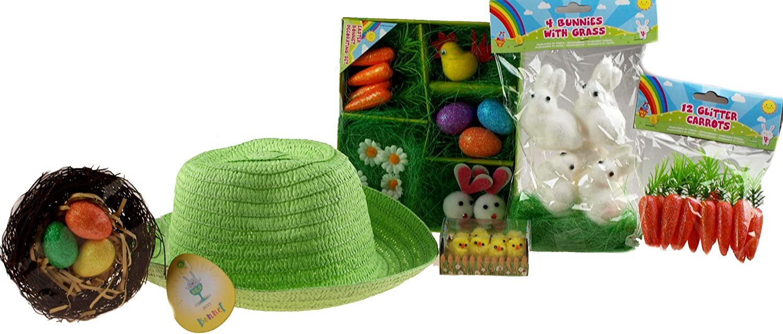 Boys Make Your Own Green Easter Bonnet Cowboy Hat Complete Decoration Kit
