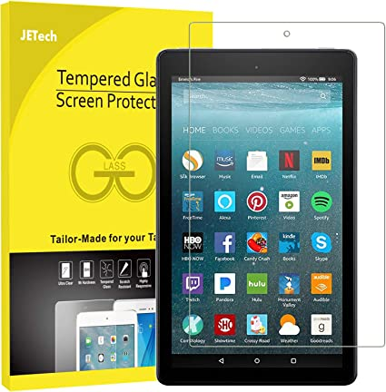 2-Pack Tempered Glass Screen Protector Film for Amazon Fire HD 10 2017 Tablet