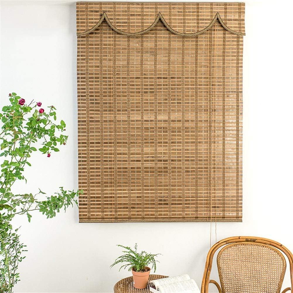 LJA Outdoor Persianas enrollables de Madera Persianas de bambú ...
