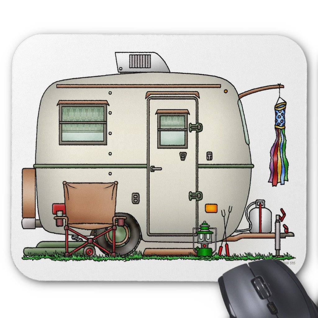 Zazzle Cute Rv Vintage Glass Egg Camper Travel Trailer Mouse Pad