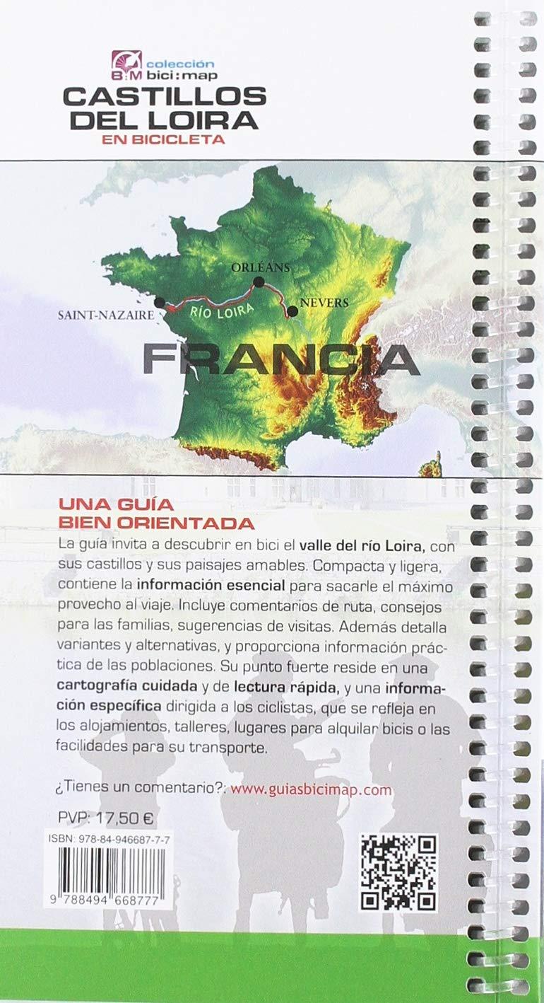 Castillos del Loira: El río Loira en Bicicleta: 24 Bici:map ...