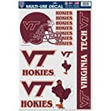 "NCAA Virginia Tech 53481081 Multi Use Decal, 11"" x 17"""