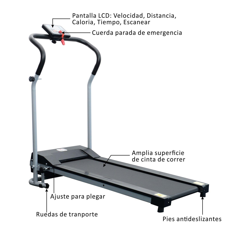 HOMCOM Cinta de Correr Plegable y Eléctrica con Pantalla LCD ...