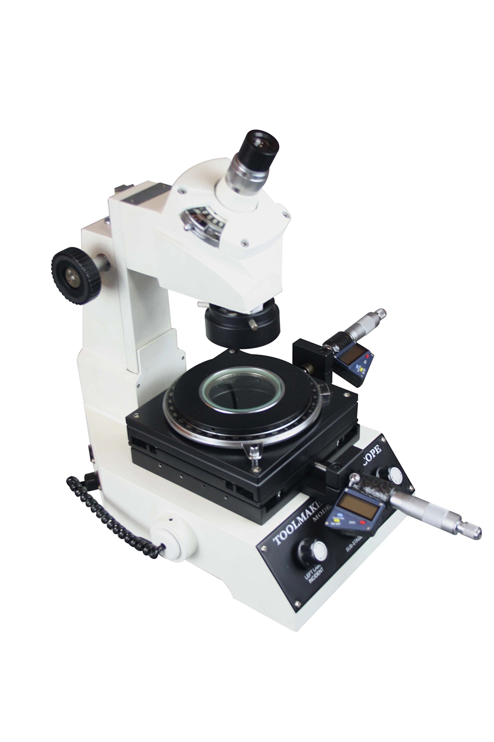 Radical Highly Precise Toolmakers Angle & Linear Industrial Measuring Microscope - Digital Micrometer 1um LED Light by Radical