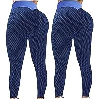 Modaworld 2 Piezas Push Up Leggings para Mujer, Leggings de Yoga Fitness Alta Cintura Pantalones Deportivos Elásticos…