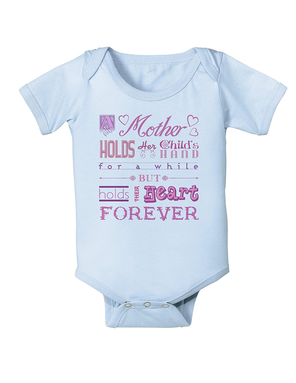 6 Months A Mother Holds Mothers Day Infant One Piece Bodysuit Light Blue