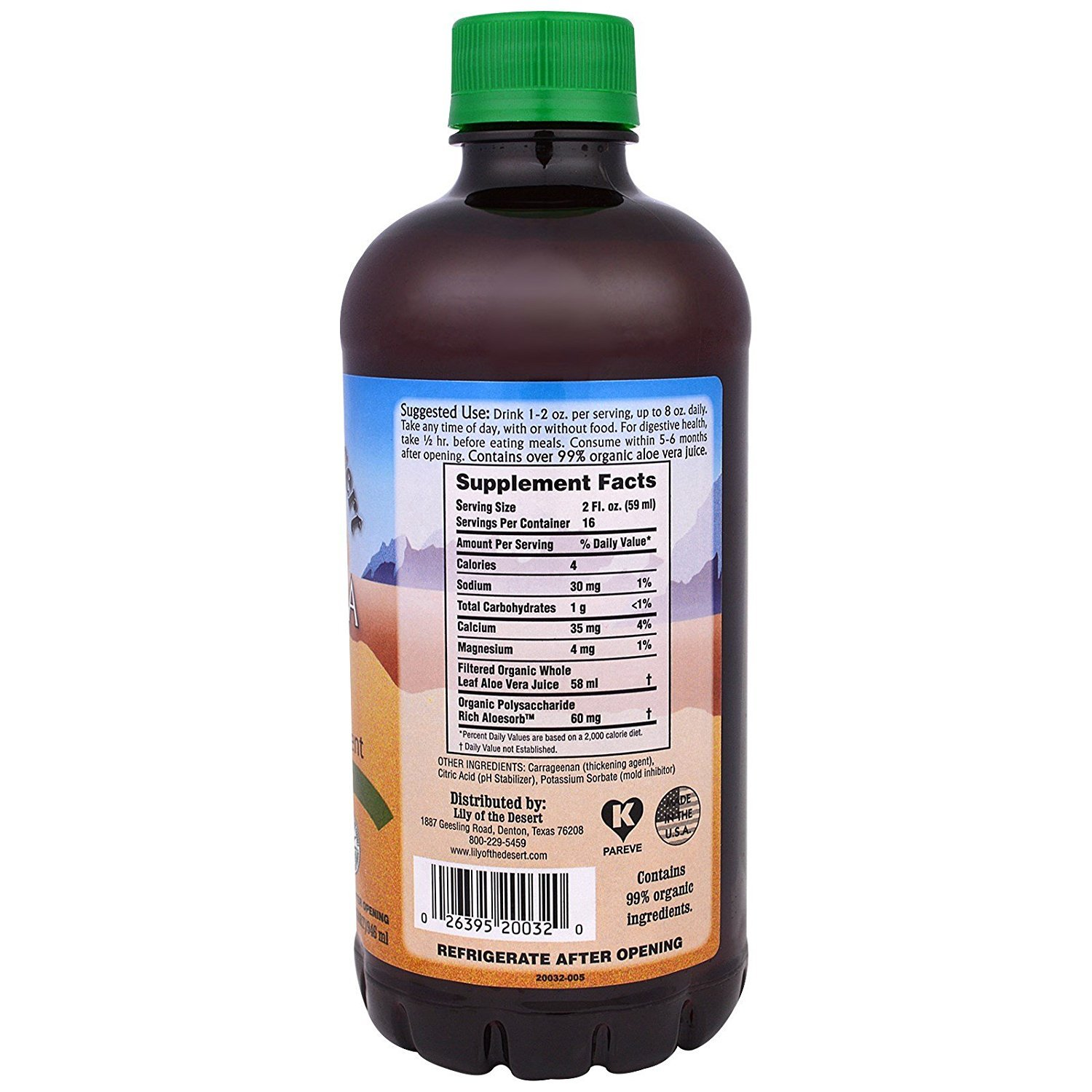 Lily of the Desert Aloe Vera Gel, Whole Leaf, 32 Ounce (Pack of 2)