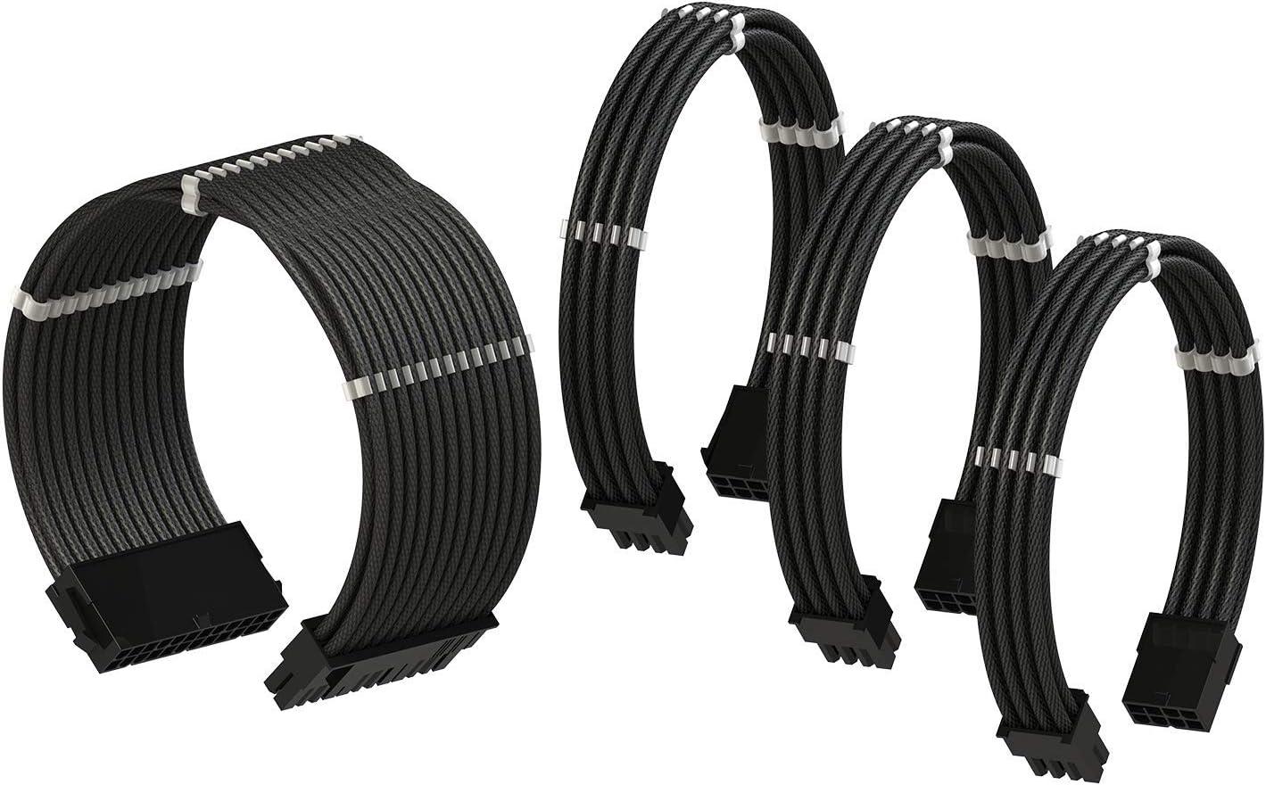 RedBlack PSU Cable Extension Sleeved Custom Mod PC Power Supply Braided w//Comb Single Pack GPU 30CM 300MM LINKUP 6+2 1x 8 P