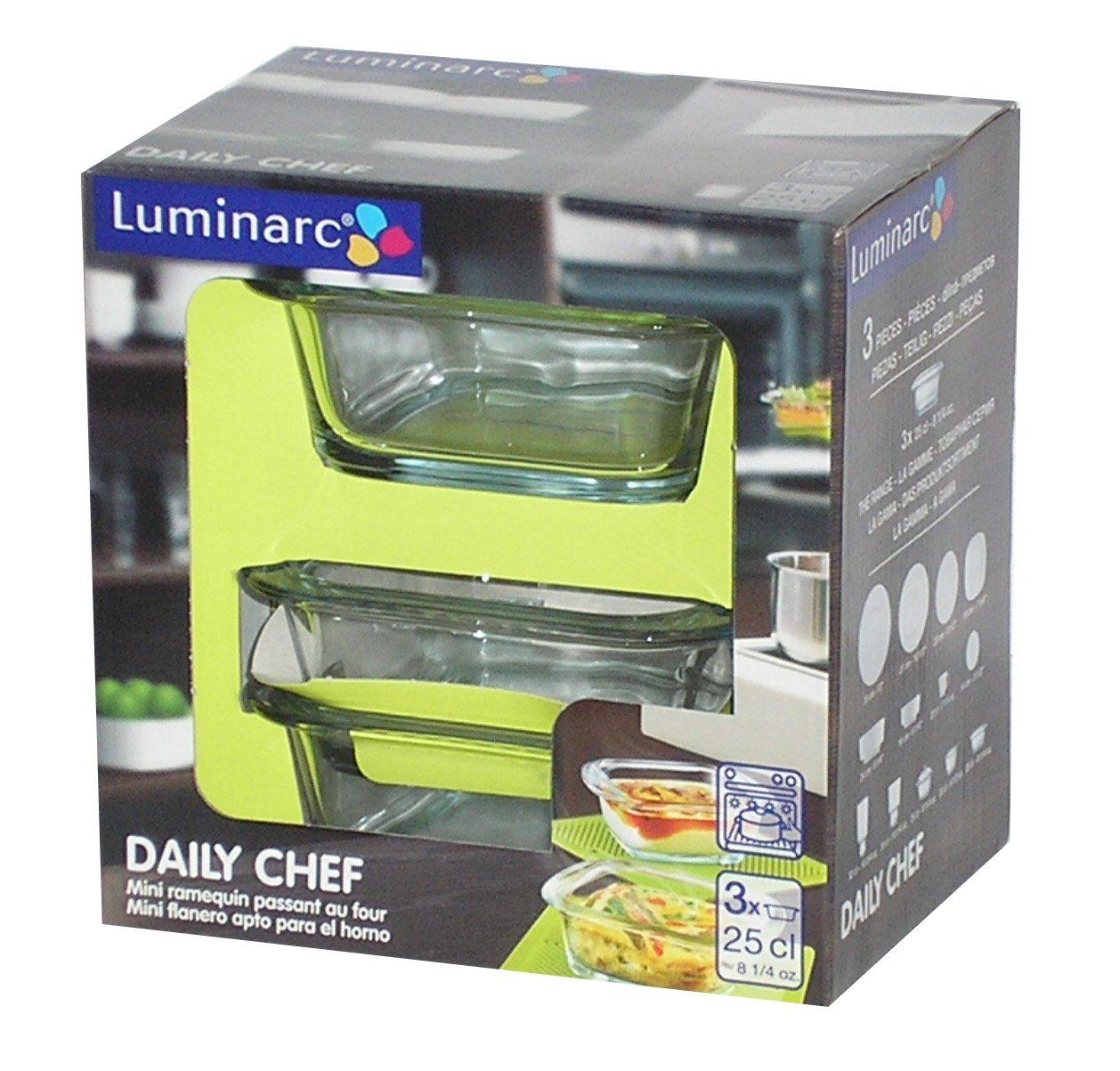 Luminarc Set 2 Asadores/Flaneros Mini 25 Cl Modelo Daily Chef ...