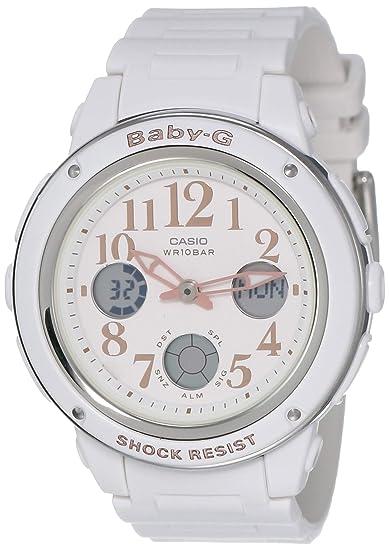 Amazon.com: Casio Mujer bga150ef-7b Baby-G Reloj Blanco ...