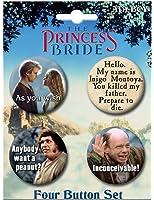 """Ata-Boy Princess Bride Set of 4 1.25"""" Collectible Buttons"""