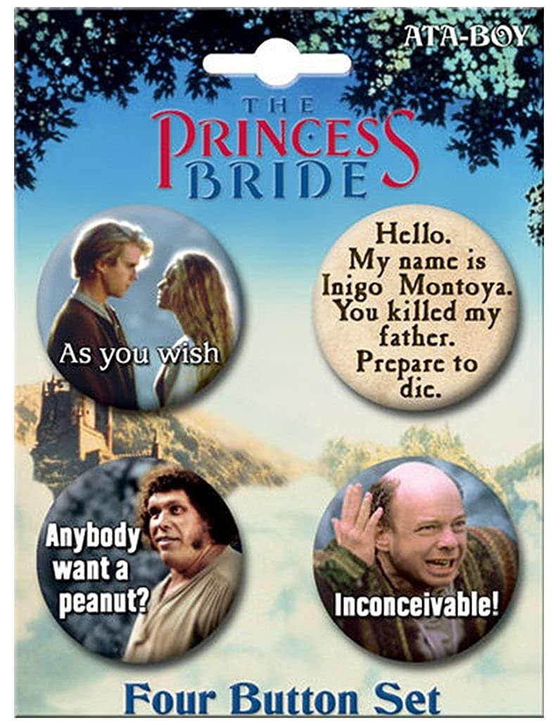 Ata-Boy The Princess Bride Set of 4 1.25