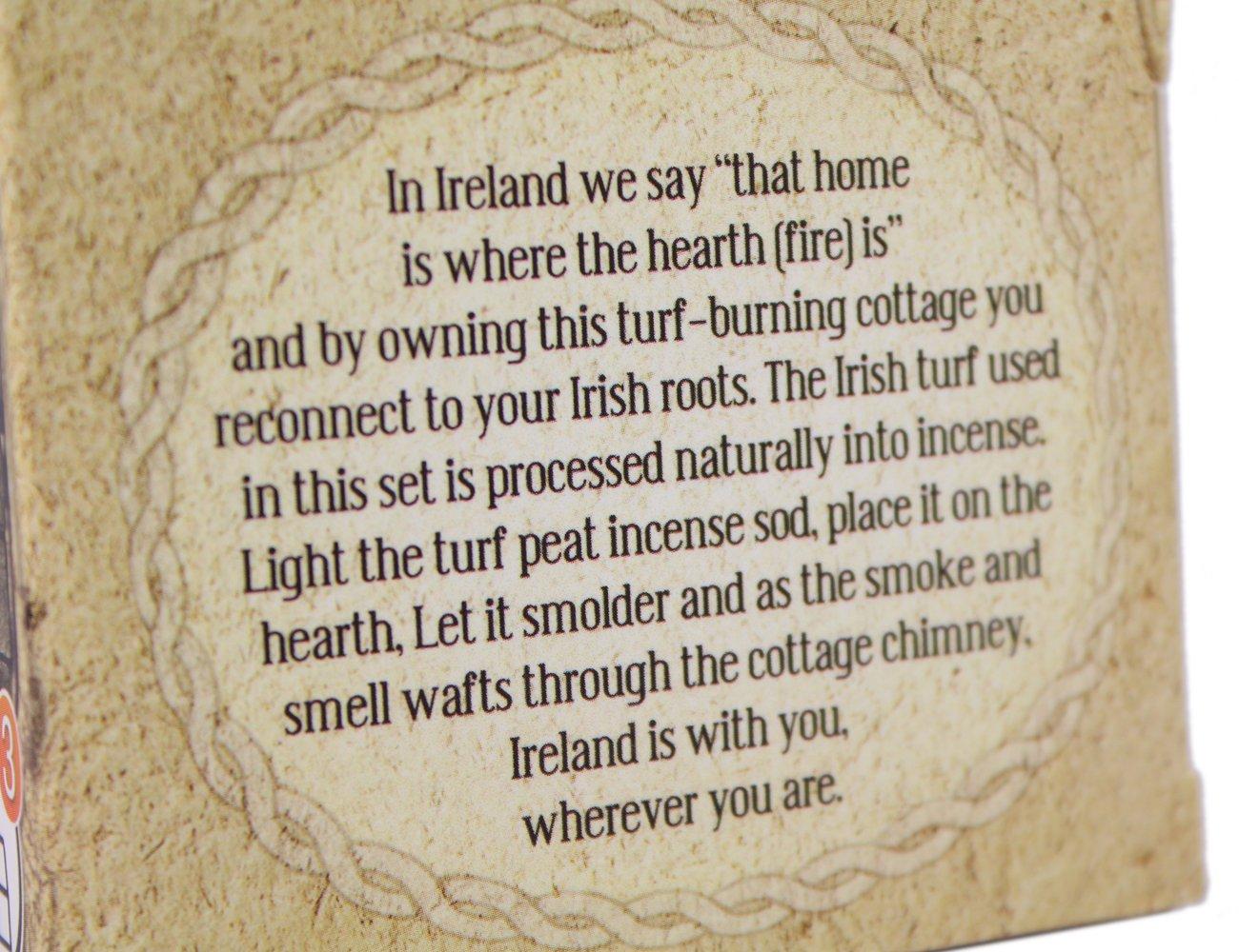 Biddy Murphy Irish Peat Turf Incense Burner Ceramic Cottage Irish Christmas Stone Hearth & Incense Sods Included Housewarming Made in Ireland by Biddy Murphy (Image #6)