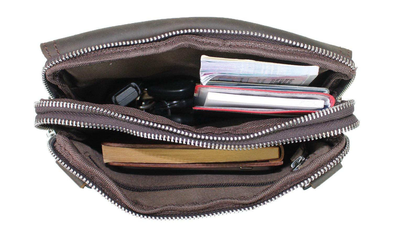 Vintage Full Grain Leather Cowhide Leather Slim Shoulder Waist Bag LS37.DV