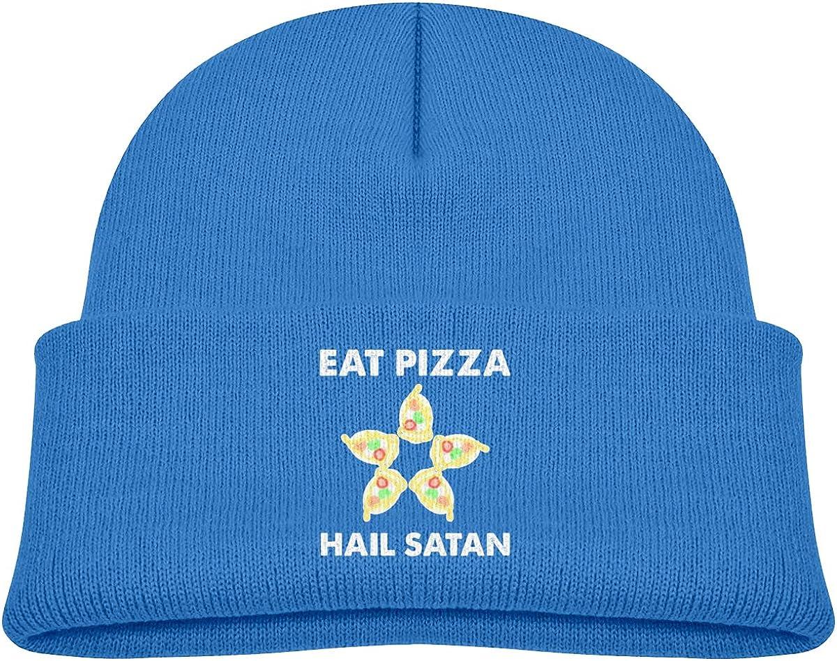 Negi Eat Pizza Hail Satan Beanie Caps Knit Hat Toddler
