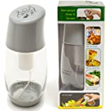 Ideal Olive Oil Mister Sprayer by The Fine Life - Premium Filter Clog-Free Air Pressure Cooking Oil Sprayer - Grey