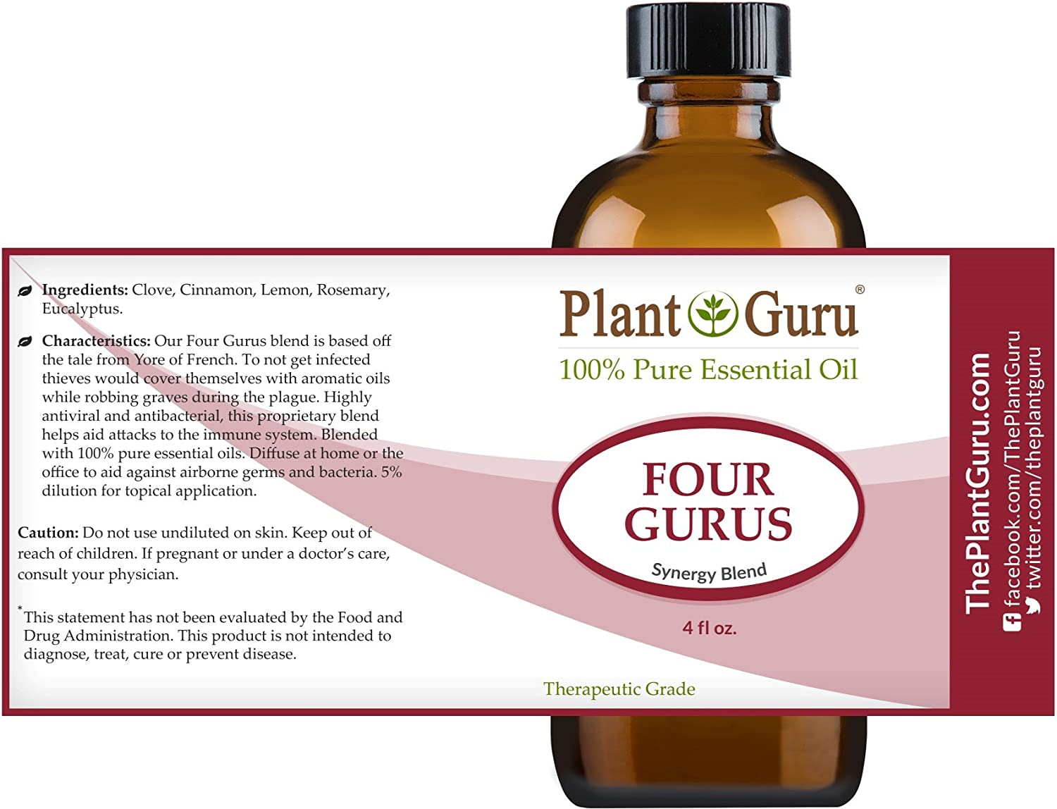 Thieves Oil Dilution Amazoncom Four Gurus Synergy Blend Essential Oil 4 Oz 100