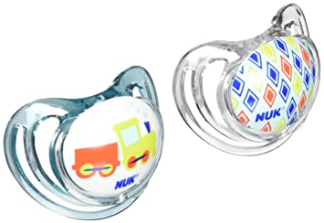 NUK Airflow Orthodontic Pacifier, 6-18 Months, Trains, 1 pk