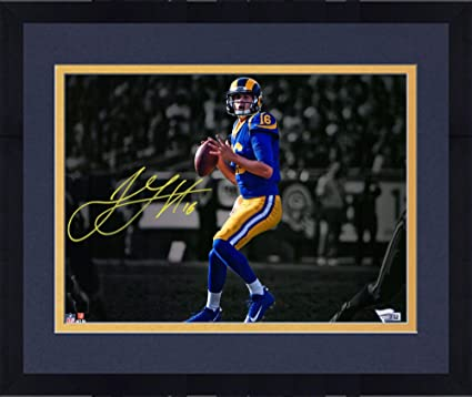 super popular 75914 60cab Framed Jared Goff Los Angeles Rams Autographed 11
