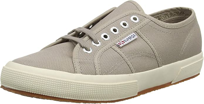 Superga 2750 Cotu Classic Sneakers Low-Top Unisex Damen Herren Grau (Mushroom)