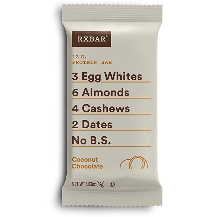 RXBAR, Coconut Chocolate, Protein Bar, 1.83 Ounce (Pack of 12), High Protein Snack, Gluten Free