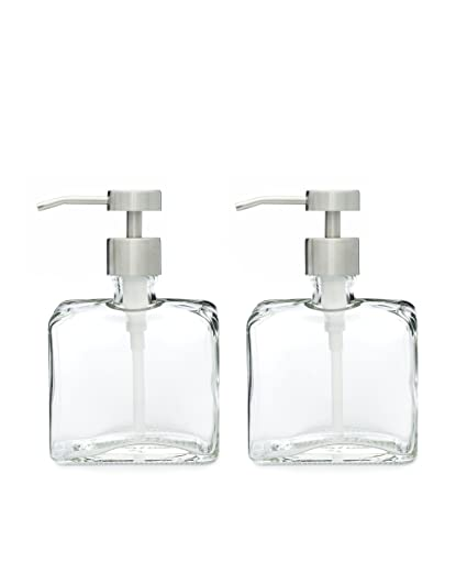 Amazoncom Set Of Two Urban Glass Soap Dispensers With Fuente