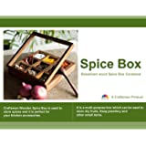 Crafts'man PREMIUM QUALITY Wooden Spice rack Container/spice Box/spice Rack with Spoon.