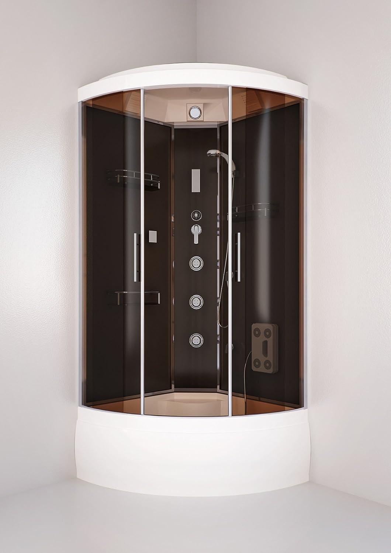 230cm altura del recinto cabina de baño cuarto de baño con plato de ducha de esquina 90x90cm