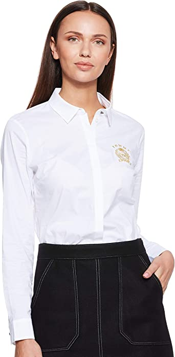 Tommy Hilfiger Rayne Heritage Shirt LS W2 Blusa, Blanco (Classic White 100), S (Talla del fabricante: 6) para Mujer: Amazon.es: Ropa y accesorios