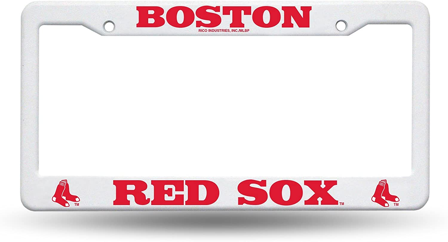 Boston Red Sox World Series Champs 2018 Plastic License Plate Frame Rico Industries