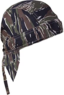 03c05bc7dee Camouflage Doo Rag Skull Cap Camo Bandana Hunting Hunters Head Wrap