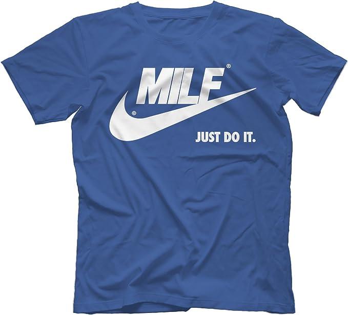 flauta Fatídico Azul  MILF Just Do It T-Shirt 100% Cotton, Royal Blue, XX-Large: Amazon.de:  Bekleidung
