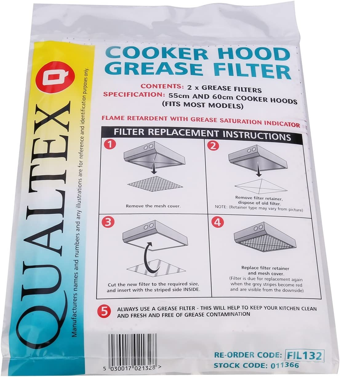 Kenwood Cooker Hood Extractor Vent Grease /& Charcoal Filters Saturation Indicato