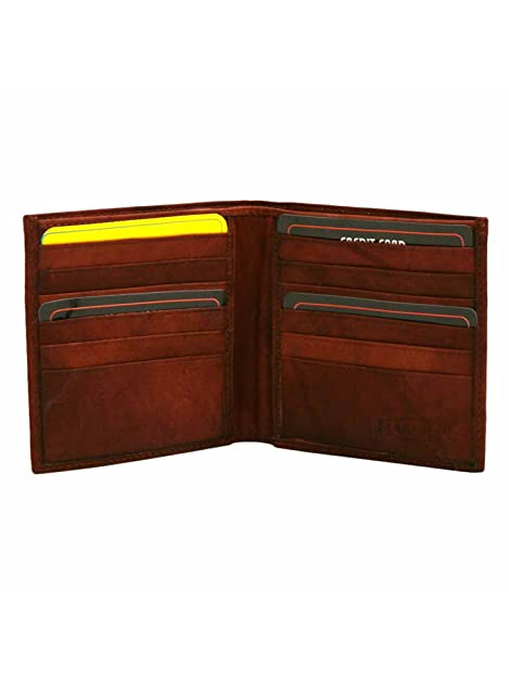 3c97a39cc4 Burgundy Leather Mens Wide Classic Bifold Wallet