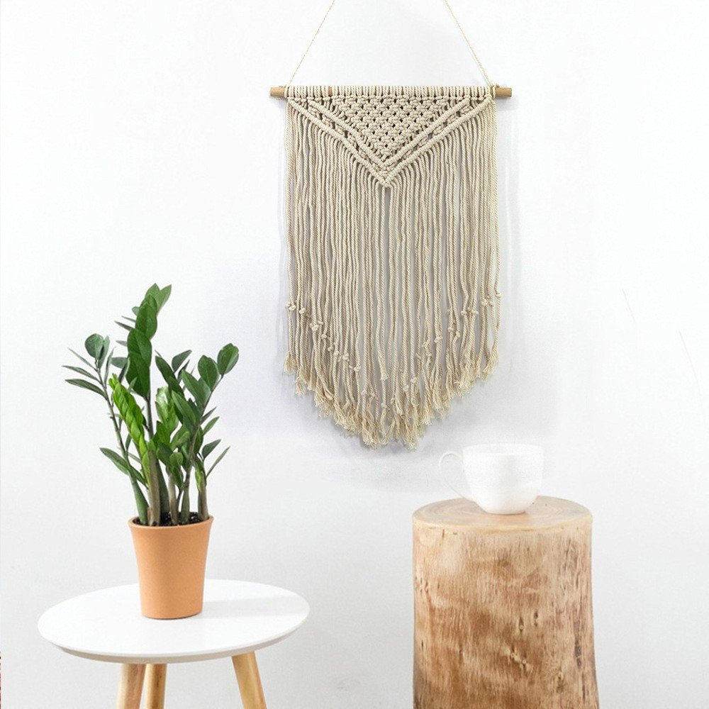 HmDco Macrame hechos a mano la pared cuelgan Tapices Tapices cuelgan de Pared tejida Arte Boho Textiles Decoración de pared para colgar en pared,6545cm 8d35a6