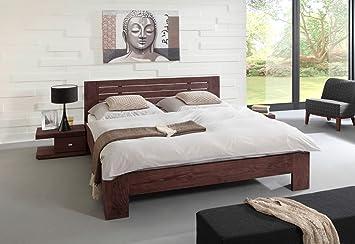 Massivholzbetten design  SAM Massivholzbett 180x200 cm Timber 6686, Bett aus Akazie, tabak ...