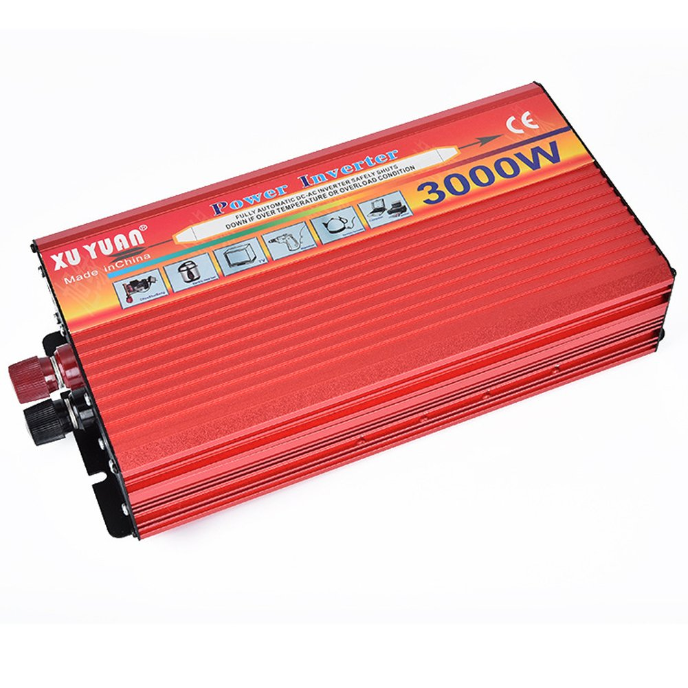 Portable Car LED Power Inverter 3000W WATT DC 12V to AC 110V Charger Converter (24V, 220V/3000W)
