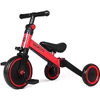 Kiwicool 3 in 1 Kids Tricycles for 1.5-5 Years Old Kids Trike 3 Wheel Bike Boys Girls 3 Wheels Toddler Tricycles (Red)