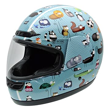 NZI 050290G711 Class Jr Graphics Animals Casco de Moto, Ilustraciones de Animales, Talla 57