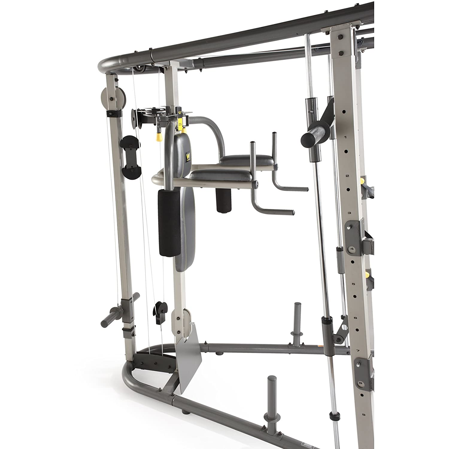 Weider C700 Smith Machine Gym Removable Weight Bench Cable Cross