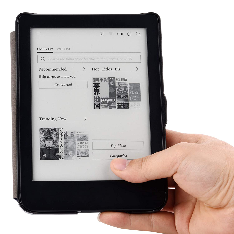 ahora con luz frontal integrada YuanZhu Funda tipo libro para Nuevo Kindle 2019
