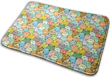 """Imagen deBLSYP Felpudo Cartoon Cats Doormat Anti-Slip House Garden Gate Carpet Door Mat Floor Pads 15.8"""" X 23.6"""""""